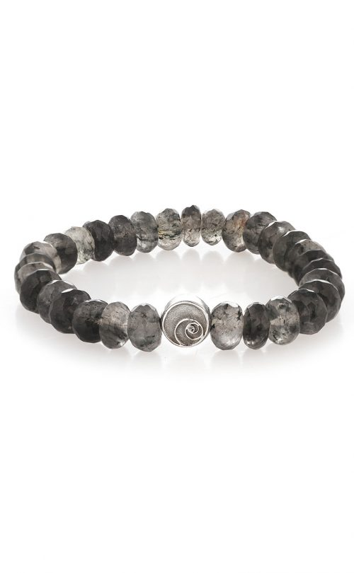 Luna Bracelet Quartz Tourmalated Quartz Silver