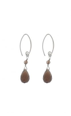 Kissed earrings Smoky Quartz Silver
