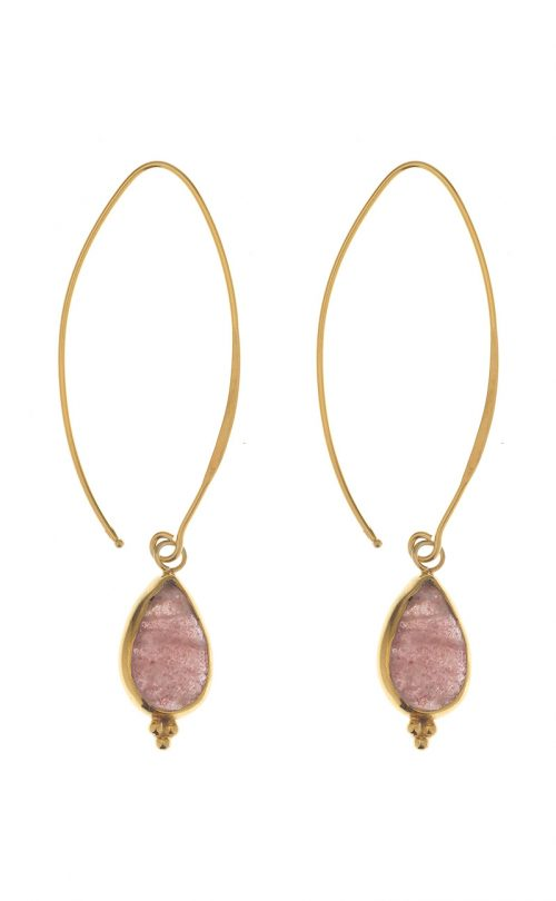 Allure Earrings Strawberry Quatz Gold