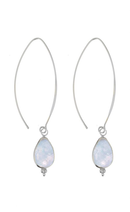 Allure Earrings Aquamarine Silver
