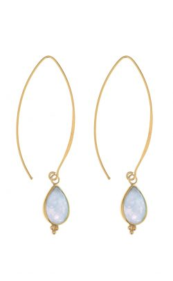 Allure Earrings Aquamarine Gold