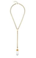 Georgia Necklace Clear Quartz Gold