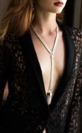 Georgia Necklace Rose Quartz Silver