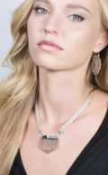 Ayla necklace Smoky Quartz Silver