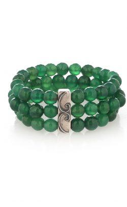Wild Bracelet Green Onyx Silver