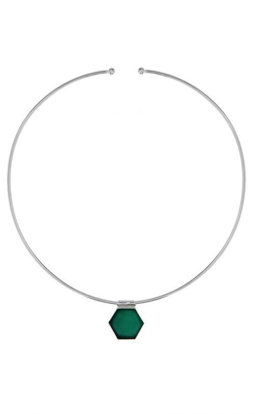 Odyssey Choker Green Onyx Silver