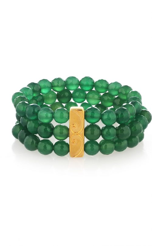 Wild Bracelet Green Onyx Gold