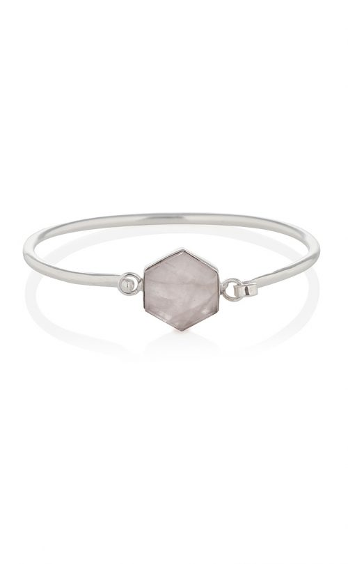 Flow Bracelet Rose Quartz Silver