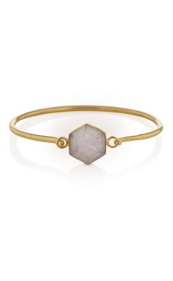 Flow Bracelet Rose Quartz Gold