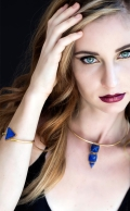 Sophia Bracelet Lapis Gold