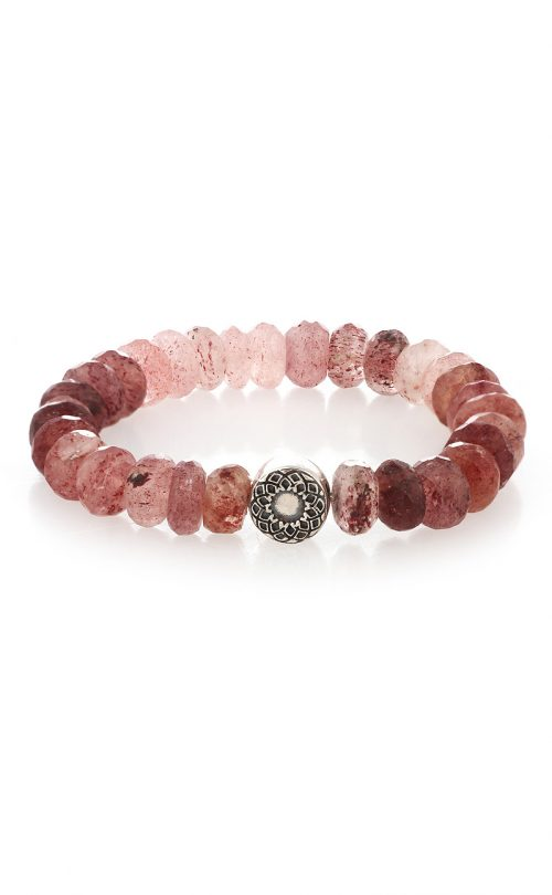 Inspired Bracelet Strawberry Quartz Silver