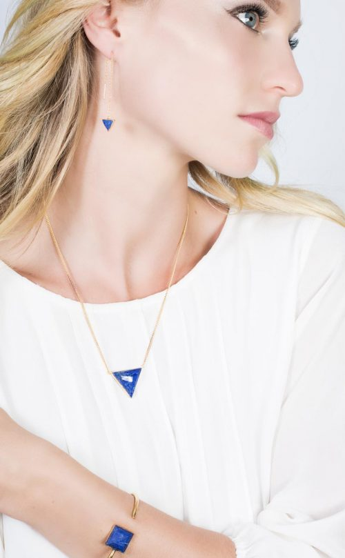 Immersion Earring Lapis Gold