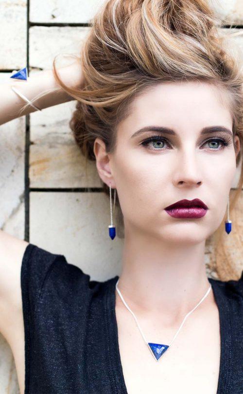 Transcend Earring Lapis Lazuli Silver