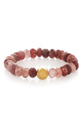 Inspired Bracelet Strawberry Quartz Gold
