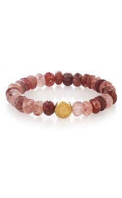 Inspired Bracelet Strawberry Quartz Gold