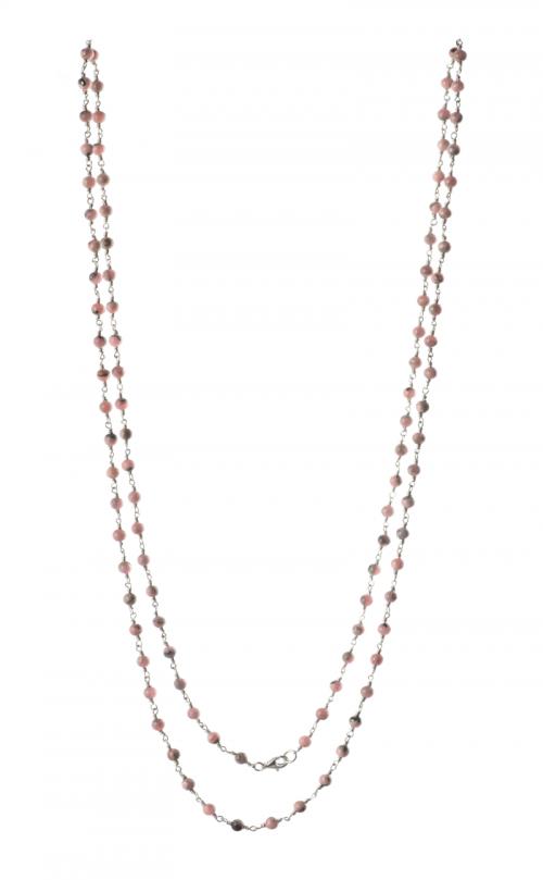 Samaya Mala Rhodocrosite Silver chain