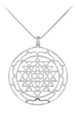 Rose Quarta Geometric Necklace