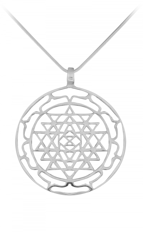 Rose Quarta Geometric Necklace