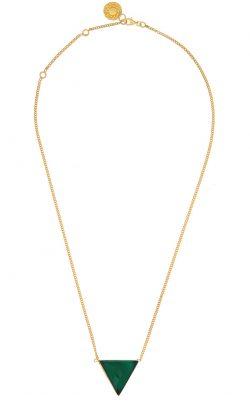 Luminary Necklace Green Onyx Gold