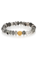 Luna Bracelet Tourmalated Quartz Gold