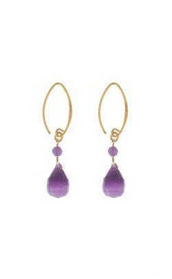 Kissed earrings Amethyst Gold