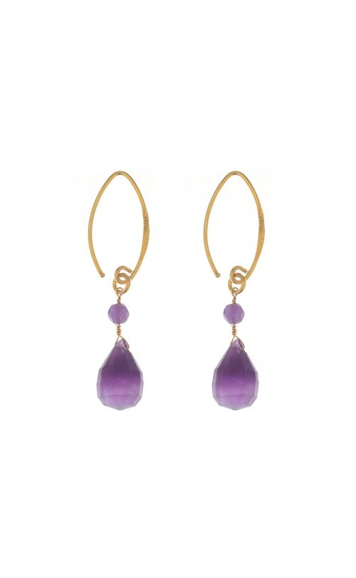 Kissed earrings Amethyst Gold