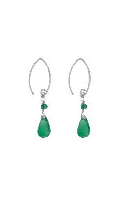 Kissed earrings Green Onyx Silver