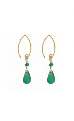 Kissed earrings Green Onyx Gold