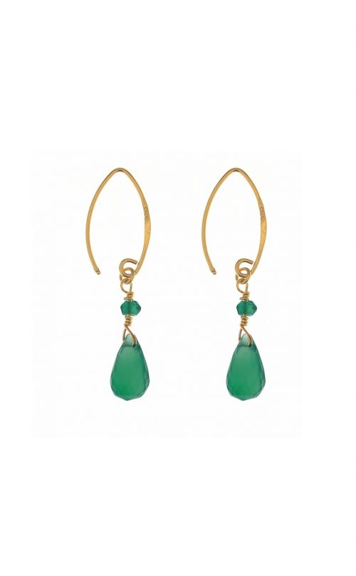 Kissed earrings Green Onyx Gold