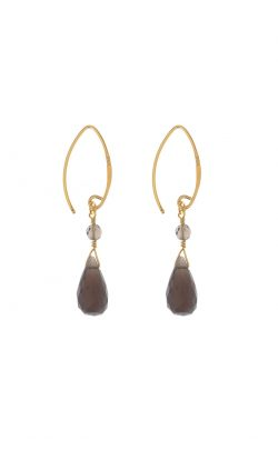 Kissed earrings Smoky Quartz Gold