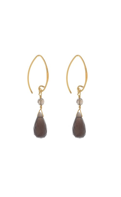Kissed earrings Smoky Quartz Gold