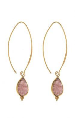 Allure Earrings Strawberry Quatz Gold