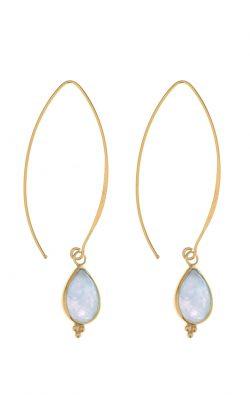 Allure Earrings Aquamarine Gold