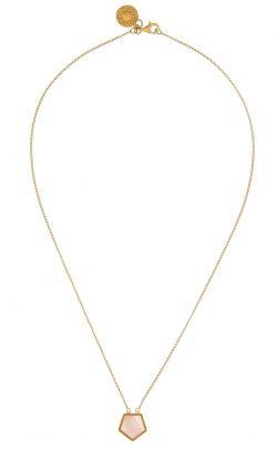 Starlet Necklace Rose Quartz Gold
