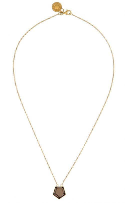 Starlet Necklace Smoky Quartz Gold