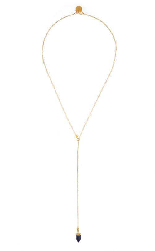 Breeze Necklace Lapis Gold