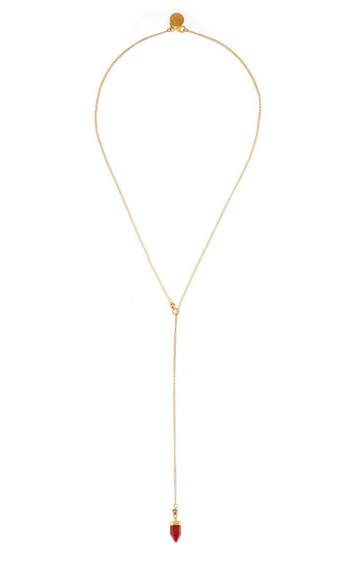 Breeze Necklace Ruby Gold