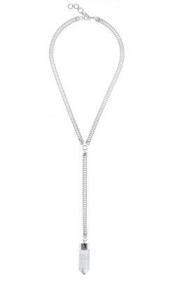 Georgia Necklace Clear Quartz Silver