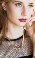 Ayla necklace Smoky Quartz Gold