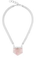 Ayla necklace Rose Quartz Silver