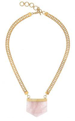 Ayla necklace Rose Quartz Gold