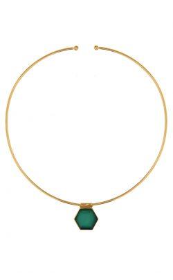 Odyssey Choker Green Onyx Gold