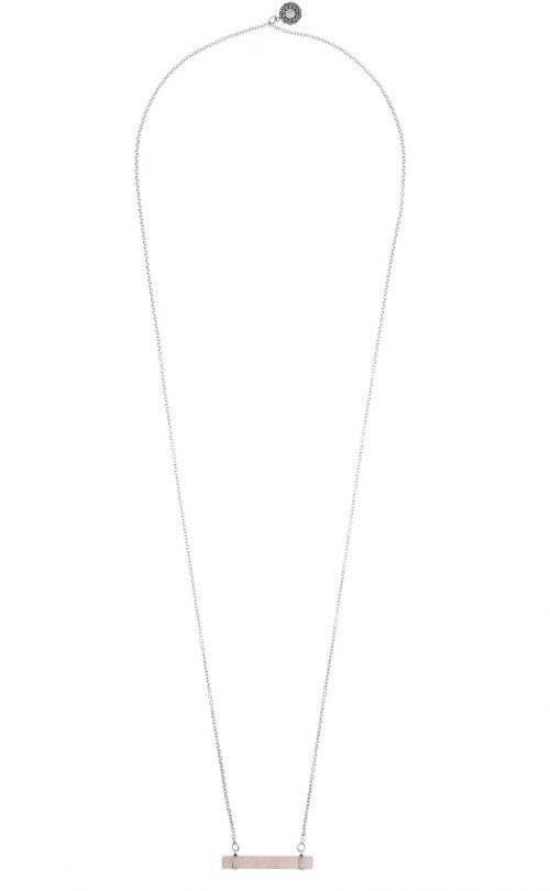 Gaia Necklace Rose Quatz Silver