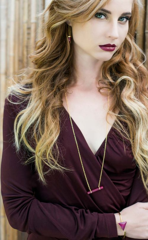 Gaia Necklace Ruby Gold