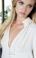 Gaia Necklace Rose Quartz Gold