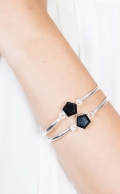 Expansion Bracelet Black Onyx Silver