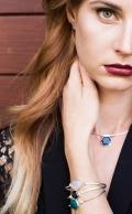Flow Bracelet Rose Quartz Silver