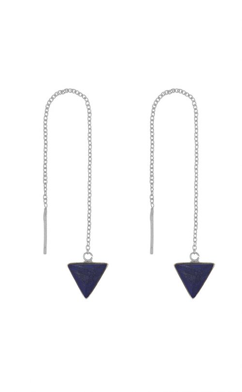 Immersion Earring Lapis Silver