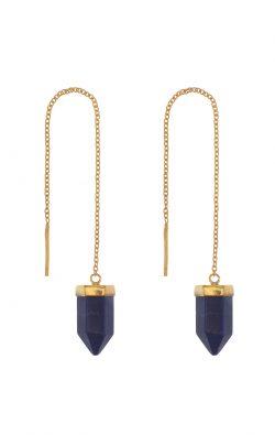 Transcend Earring Lapis Lazuli Gold